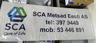 Mainoskyltti SCA Metsad Eesti AS