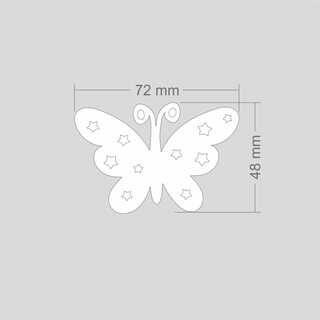 Helkur liblikas 42x67 mm