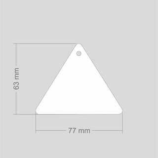 Helkur kolmnurk 77x62mm