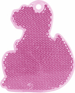 Reflector dino 56x70mm pink